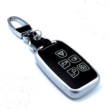 Genuíno Saco de Couro Caso Chave Do Carro Para Land Rover RANGE ROVER SPORT Evoque Freelander 2 DISCOVERY 4 Chave Da Cadeia de Cobre