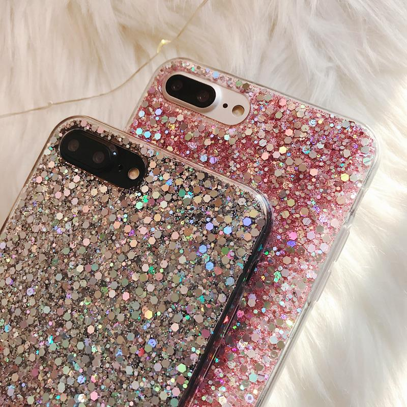HTB1nB5Dah2rK1RkSnhJq6ykdpXat - Gurioo Silicone Bling Glitter Crystal Sequins Hard shell Phone Case For iPhone 11 5 SE 6 6S 7 8 X Plus XR XS Max Protective Case