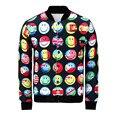 Alisister 2017 Newest design men jacket funny 3d print emoji jackets and coats winter harajuku coat mens windbreaker jacket