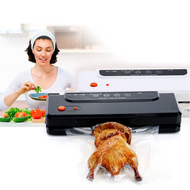 Multi function Vacuum sealer machine 220v for packing food saver packaging bag sealing household included 10pcs