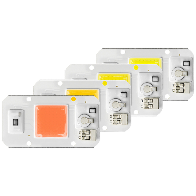 LED COB Chip 50W 30W 20W AC220V Smart IC Chip Day White Warm White Cold White Full Spectrum Grow Light LED Chip For DIY