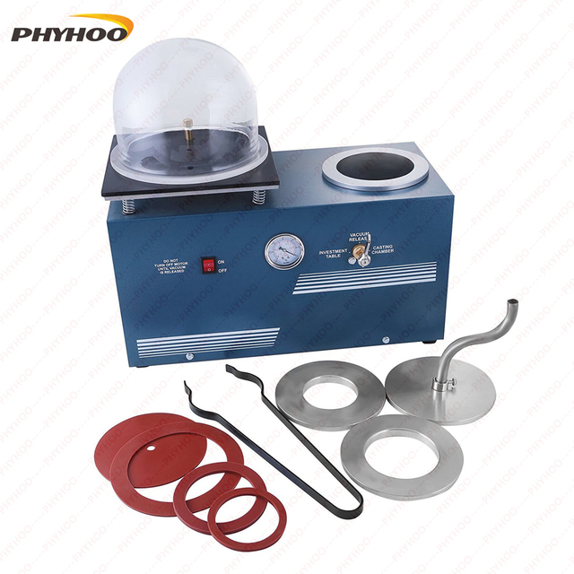 Jewelry Lost Wax Cast Combination Vacuum Investing Casting Investment  Machine Tabletop Vacuum Machine For Casting And