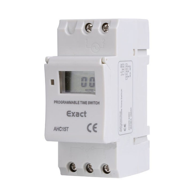 AHC15T LCD Microcomputer Programmable Timer Latitude Longitude Din Rail Street Lamp Controller Digital Time Switch din Relay chint nkg3 nkg 3 lcd microcomputer astro time switch sunrise sunset based on latitude din rail digital timer programmable relay