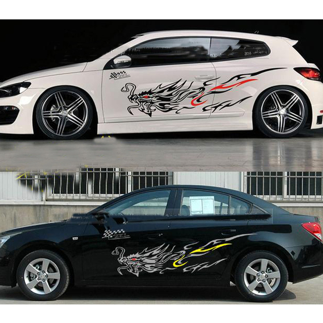 Car styling 1set totem dragon sticker automobiles car hood whole body vinyl decal stickers