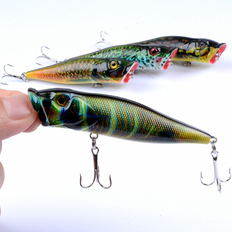 9.5cm 12g Popper Fishing Lure Deep Float Ice Fishing Lure For Fishing Crankbait Jerkbait Sea Fishing Tackle Lure
