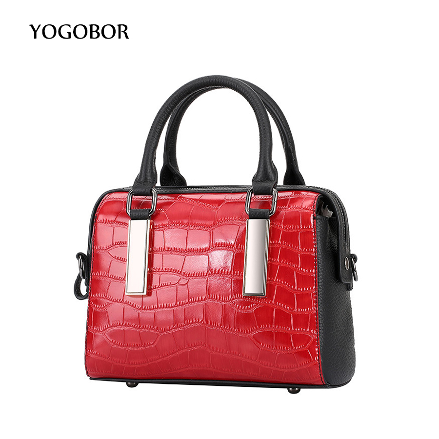 2017 Big Luxury Handbags Women Bag Women Boston Shoulder Bags Alligator Genuine Leather Purses Famous Brand Designer Tote Ladies оки суппозитории ректальные 160мг 10шт