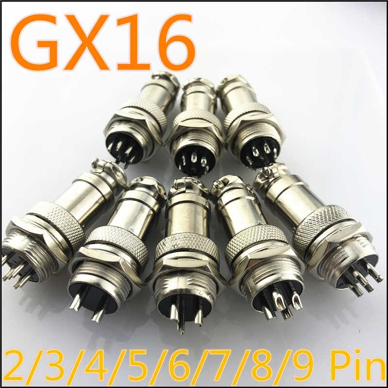 1 סט GX16 2/3/4/5/6/7/8/9 פינים זכר ונקבת 16mm L70-78 עגולים התעופה שקע תקע חוט פנל מחבר משלוח חינם