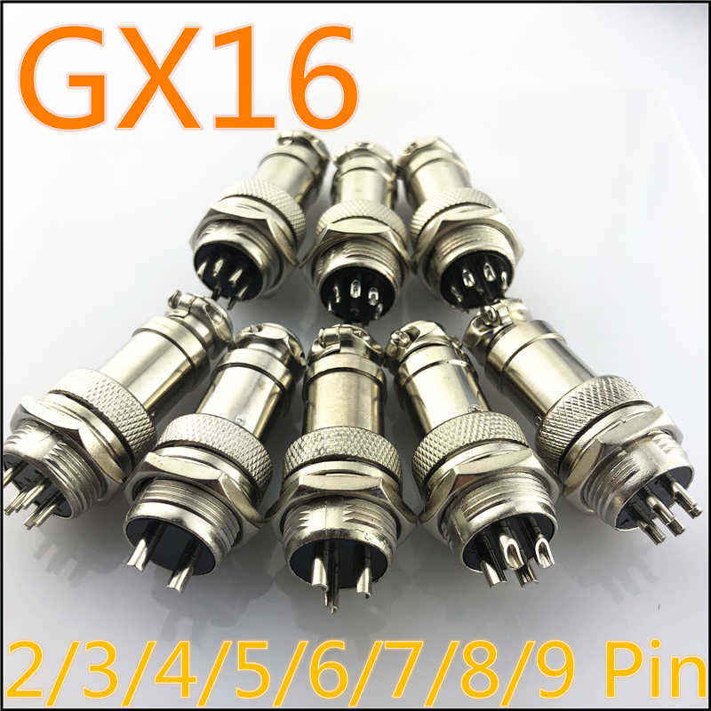 1 bộ GX16 2/3/4/5/6/7/8/9 Pin Nam & nữ 16mm L70-78 Thông Tư Hàng Không Ổ Cắm Cắm Dây Bảng Điều Chỉnh Kết Nối Miễn Phí Vận Chuyển