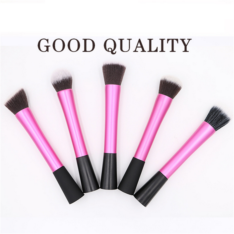 5Pcs/Set Professional Makeup Brushes Waistline Cosmetic Brush Make up Tool Kit Foundation Brush Pink free shipping durable 32pcs soft makeup brushes professional cosmetic make up brush set