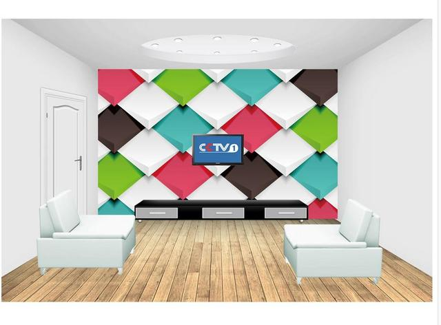 Simple color 3D solid geometry wall mural photo wallpaper 3d