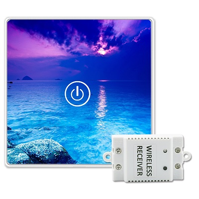 Saful Picture DIY Painting Touch Screen Wall Switch 1 Gang 1 Way Crystal Glass Switch Remote Wireless Touch Switch saful 12v remote wireless touch switch 1 gang 1 way crystal glass switch touch screen wall switch for smart home light