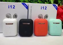 2019 Горячая Высокое качество i12 СПЦ 1:1 Air стручки беспроводной Bluetooth 5,0 супер стерео бас наушники pk i10 i11 СПЦ для iPhone/Android