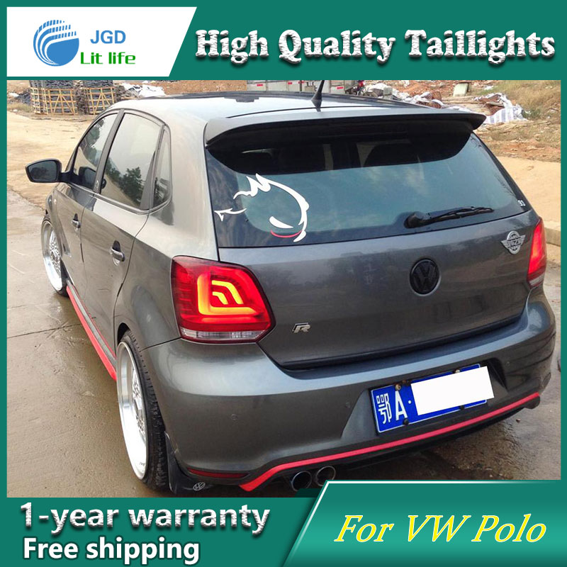 Car Styling Tail Lamp case for VW POLO taillights 2010-2016 Lights LED Tail Light Rear Lamp LED DRL+Brake+Park+Signal for vw volkswagen polo mk5 6r hatchback 2010 2015 car rear lights covers led drl turn signals brake reverse tail decoration