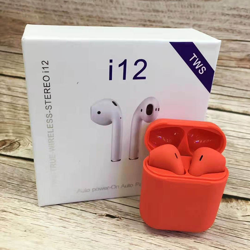 i12 Sugar Color Touch Control Bluetooth Earphones For iPhone And Android 4