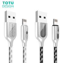 TOTU For iPhone USB Cable Fast Charging Data Sync Charger Cable For iPhone 6 6S 7 7 Plus 5 SE Air 2 Mini 2.4A Mobile Phone Cable