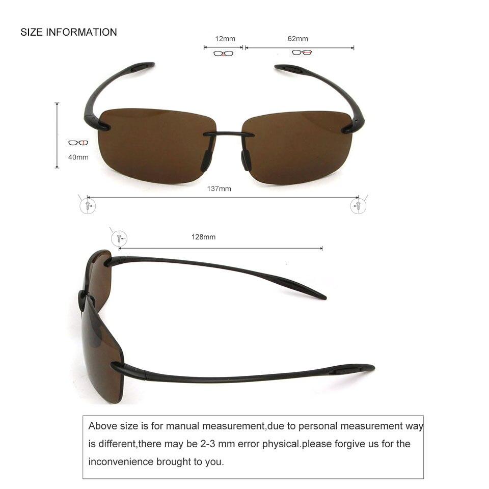 Sorbern New Classic Square Rimless Sunglasses Men TR90 Ultralight Sun Glasses Nylon Lens UV400 Driving Sunglass Goggles For Male in Men 39 s Sunglasses from Apparel Accessories