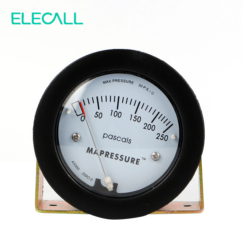 ФОТО ELECALL  Air Differential Pressure Gauge TE5000 0-250Pa Mini Size Easy To Mounting Pointer -68 ~ 103KPa High Quality
