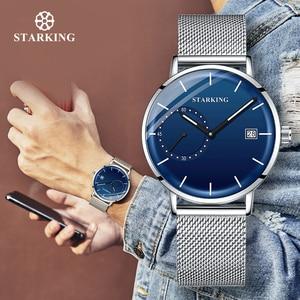Image 2 - STARKINGชุดชายตาข่ายวงQuartz Analogนาฬิกาข้อมือ 3ATMกันน้ำกระจกโค้งชายนาฬิกาRelogio Masculino