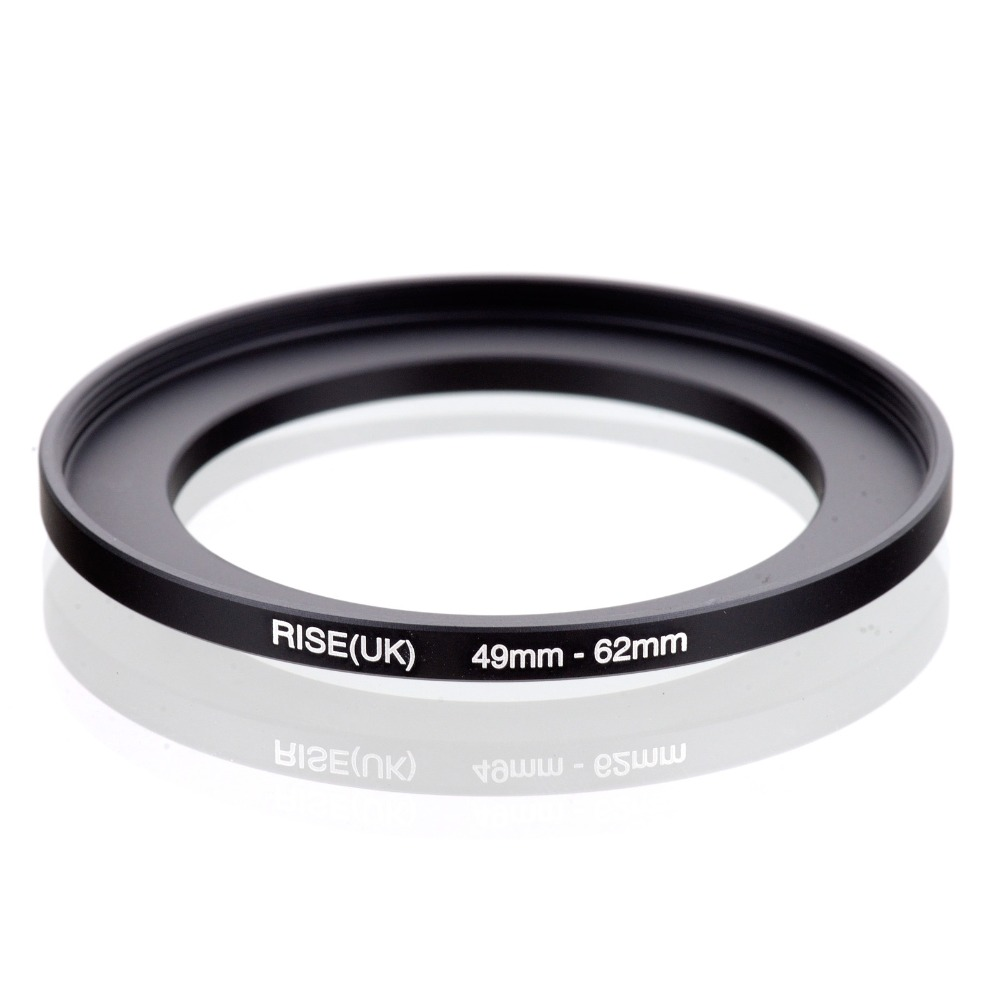 RISE(UK) 49mm-62mm 49-<font><b>62</b></font> mm 49 to <font><b>62</b></font> Step Up Ring Filter Adapter black free shipping image
