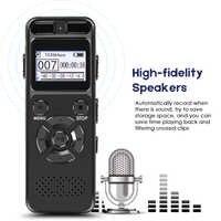 Geheimnis Digital Audio Voice Recorder 8GB 16GB Professional Tragbare Recorder MP3 Für Business Unterstützung Bis zu 64G TF Karte V32