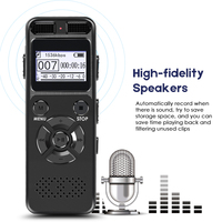 Secret Digital Audio Voice Recorder 8GB 16GB Professional Portable Recorder MP3 For Business Support Up to 64G TF Card V32