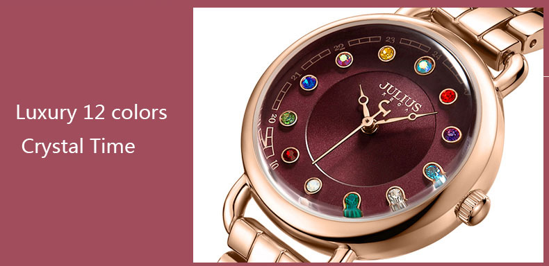 ساعة يد نسائية مرصعة ب 12 لون من حجر الراين 10