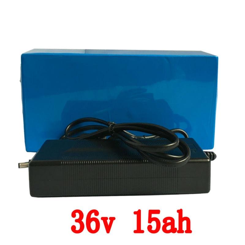 Bateria de lítio 36 v 15Ah 500 W Scooter de Bateria 36 v com carregador de  43.8 v 2A, 15A BMS LiFePo4 bateria 36 v Bicicleta Elétrica Da Bateria 36 v 0f88135ef4