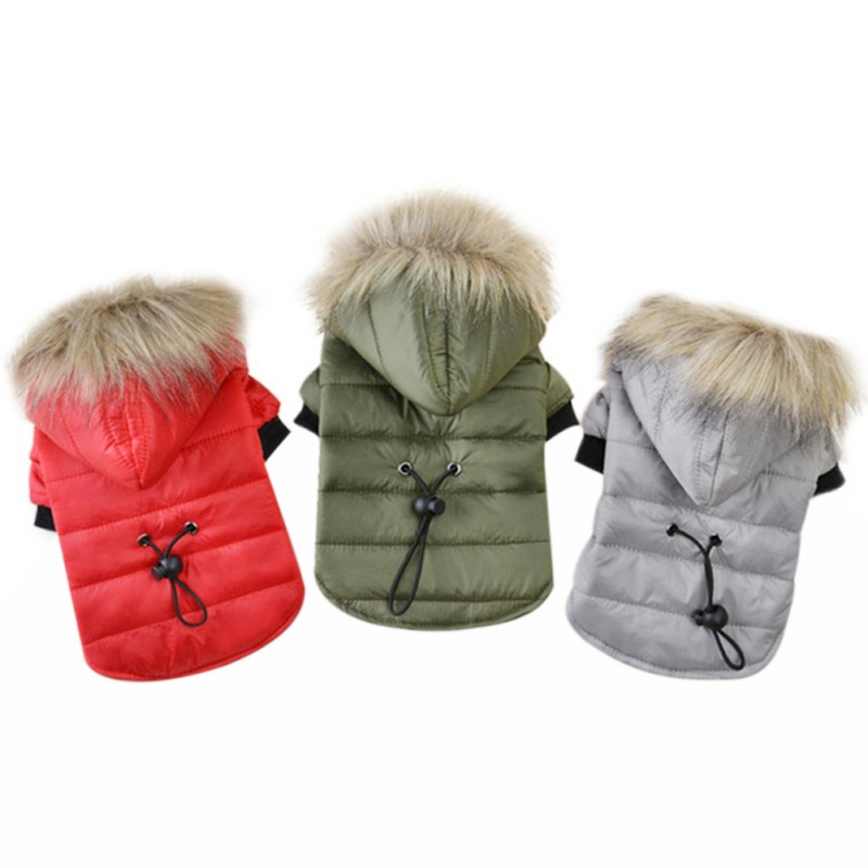 Abrigo de perro mascota invierno cálido ropa de perro pequeño para Chihuahua piel suave capucha cachorro chaqueta ropa para Chihuahua pequeños perros grandes