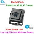 Populares sony cctv super low lux 0.00001lux day and night Imagem Da cor Mini Câmera CCD Da Câmera de Segurança com 3.7mm Pinhole lente