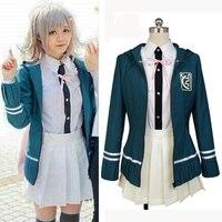 DanganRonpa 2 Chiaki Nanami Anime Uniform Jacket White T Skirt Custom Made Halloween Cosplay Costumes For
