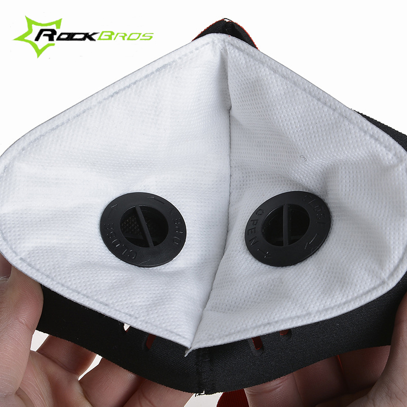 ROCKBROS Cycling Face Mask Neoprene Face Shield Exercise Mask Anti-fog Dust-proof Bike/Bicycle Mask Filter Change Motorcycle 50