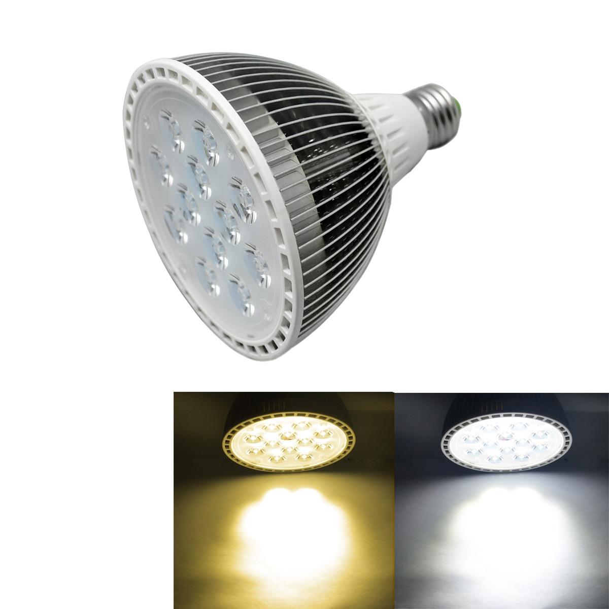 Jiawen 4 pcs/lot 12 W Par38 AC85-265V E27 LED ampoule lampe éclairage blanc/blanc chaud spot pour la maison livraison gratuite