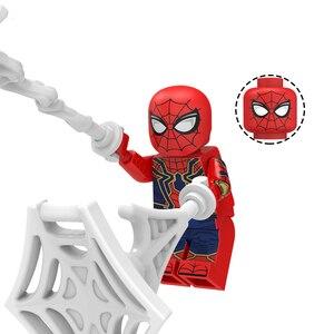 Image 2 - Spider Man loin de la maison Figure o mystériio Spider Man Noir Gwenom blocs de construction briques jouets compatibles avec Lego KT1027