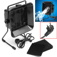 Black Low Noise 220V Solder Smoke Fume Absorber Extractor Fan With 3 Activated Carbon Sponge Filters