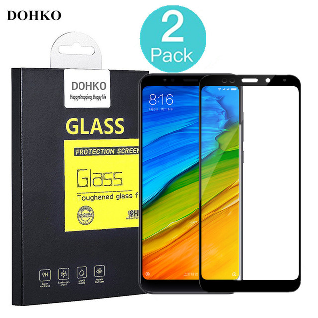2 PACK DOHKO For Xiaom Redmi Note 5 Protective Tempered Glass 2.5D 0.26mm HD Full Cover Screen Protector Redmi Note5 original