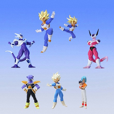 "Image 2 - 100% Original BANDAI Gashapon PVC Toy Figure HG 12   Full set of 7 Pieces from Japan Anime ""Dragon Ball Z""toy villafigurfigure types -"