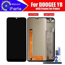 6.1 بوصة Doogee Y8 شاشة الكريستال السائل + مجموعة المحولات الرقمية لشاشة تعمل بلمس 100% الأصلي جديد LCD + اللمس محول الأرقام ل Y8 + أدوات