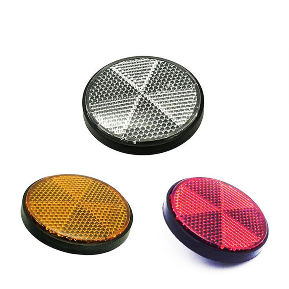 Bicycle Bike Round Reflector Safety Night Cycling ReflectiveBack Cycling Safety Warning Flashing Lights Reflector Accessories