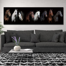 painting print horse on canvas pictures and poster no frame wall art decoration for living room(China)