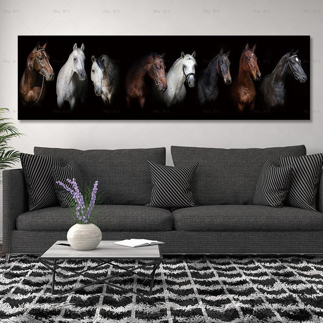 painting print horse on canvas pictures and poster no frame wall art decoration for living room