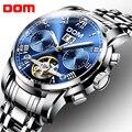 Механические часы спортивные DOM часы мужские водонепроницаемые часы мужские s брендовые Роскошные модные наручные часы Relogio Masculino M-75