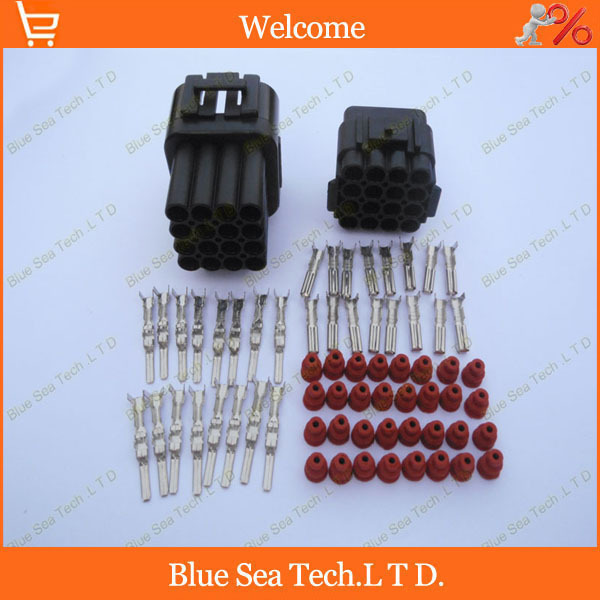 Sample,2 sets 16 Pin/way 2.2mm car connector,Car Waterproof Electrical plug,Automotive sensor Main connector for car truck ect. цена и фото