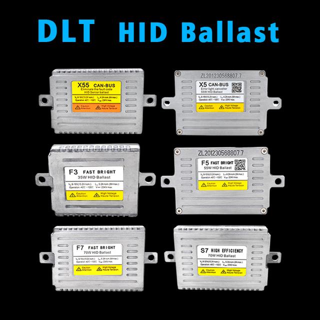 SKYJOYCE 1 Pair DLT HID Ballast 12V 24V 35W 55W 70W Fast Bright DLT F3 F5 F7 S7 T5 HID Ballast X3 X5 X35 X55 HID Canbus Ballast