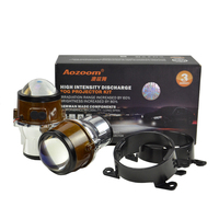 Aozoom New Arrival 2.5 Inch Fog Lamp Projector Lens with blue film foglight lamp Hid Bi xenon Retrofit H11 Bulb