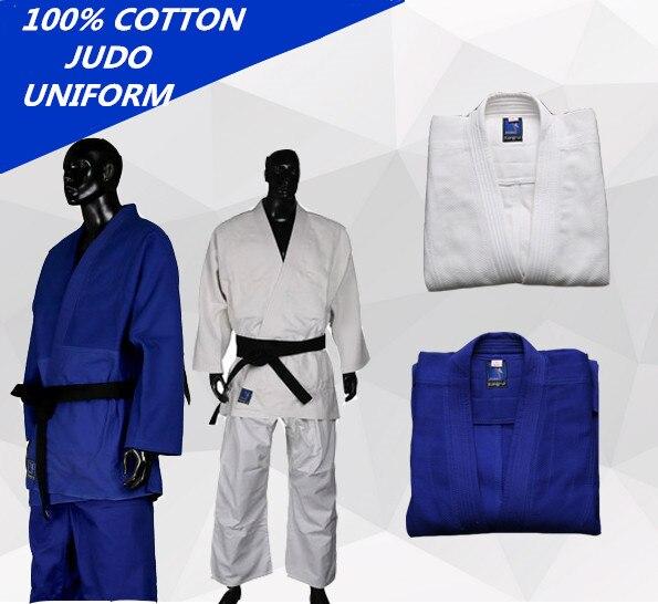 Quality 450gsm Cotton Unisex Judo Uniform Jiu Jitsu Gi Thick Uniform Set Clothes Clothing Wushu Kung Fu Adults Kids Children top quality brazil brazilian jiu jitsu judo gi bjj gi classic black blue white present white belt kung fu a1 a4 kung fu clothing
