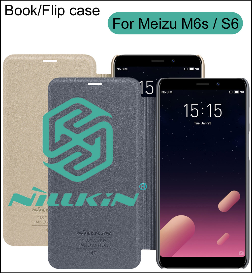 Nillkin Sparkle PU Leather Case Cover For Meizu M6S S6 Book Wallet Style
