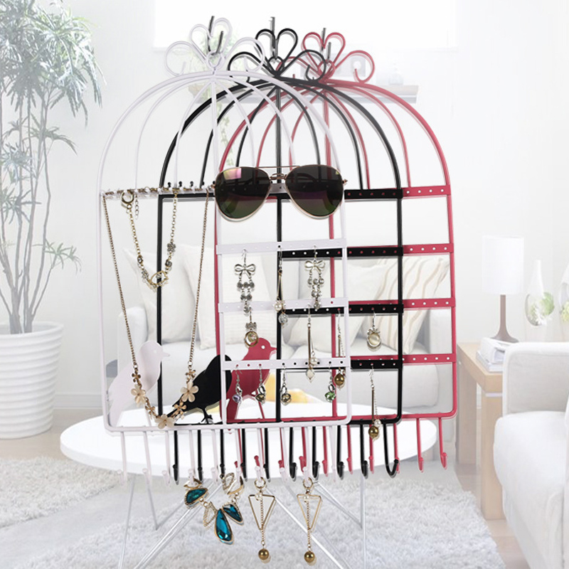 Creative bird cage series jewelry frame earrings ring necklace bracelet bracelet frame multi-purpose jewelry display stand