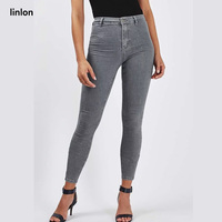 LINLON 2108 Fashion Sexy Women Casual Jeans Bodycon high Waist Denim Pants Push Up Hip Pencil Lift Jeans HighStreet pencil jeans