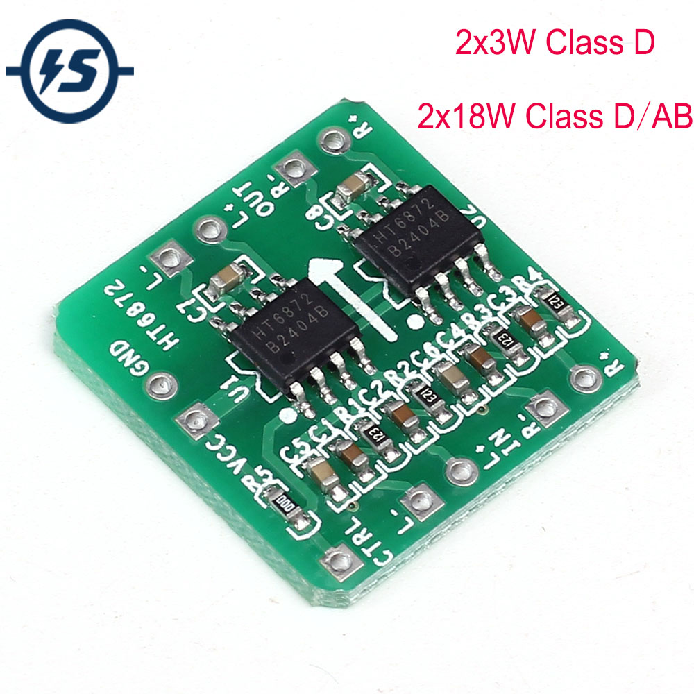 DC 6-14V / 3.6-6.5V Differential <font><b>Amplifier</b></font> Board 2x18W / <font><b>2x3W</b></font> Digital Class D/Class AB Audio Power <font><b>Amplifier</b></font> NS4110B Voltage image
