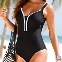 VWIWV 2017 Thong One Piece Swimwear One Piece Swimsuit Bathing Suit Women Sexy Swimwear Black Swimming